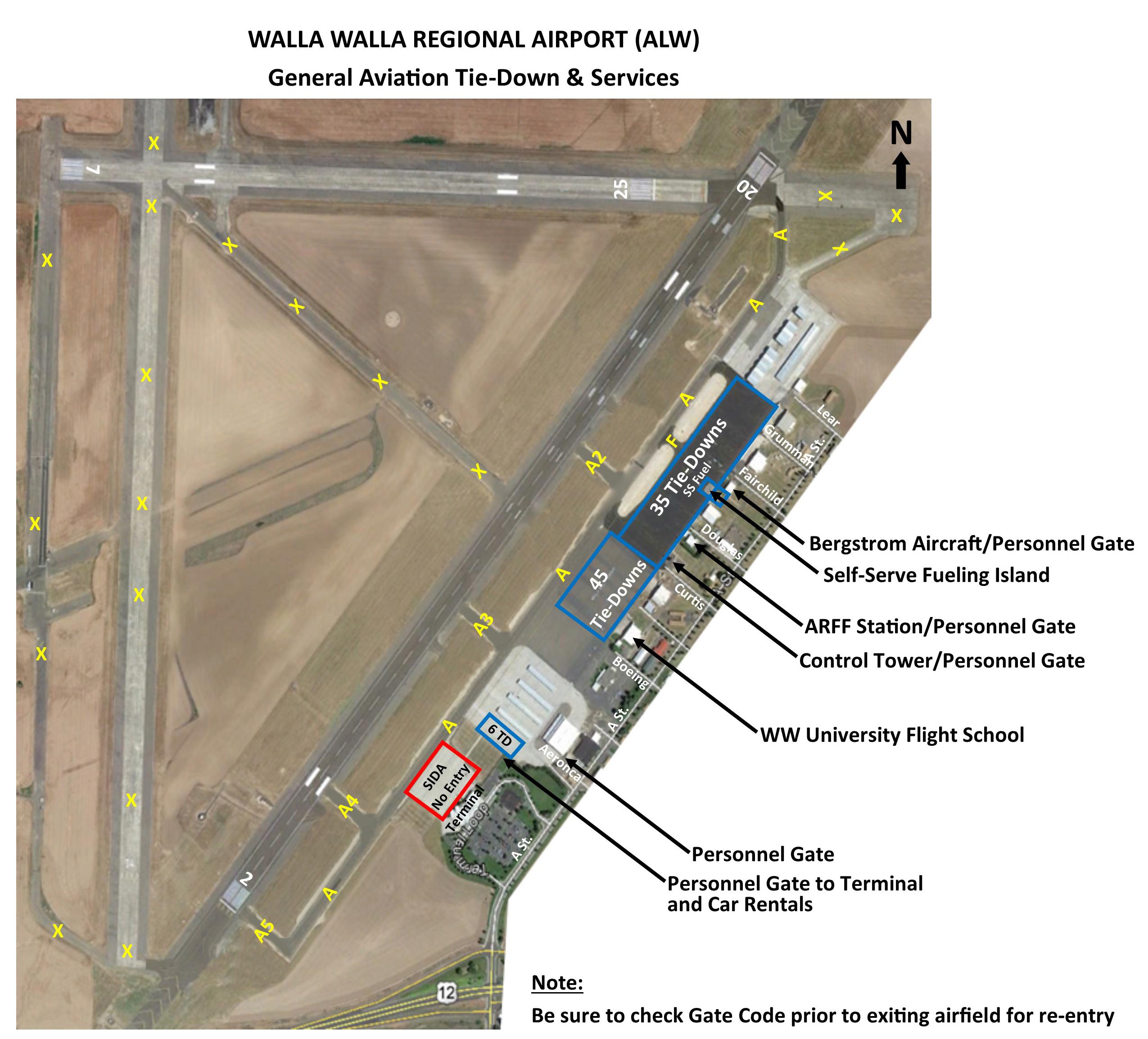 Tie Down Information Walla Walla Regional Airport
